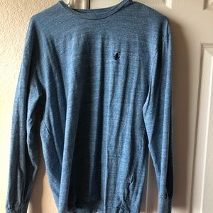 POLO blue wash long sleeve, size small